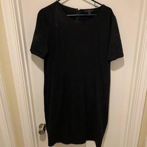 J. Crew Black Short Sleeve Cotton Dress
